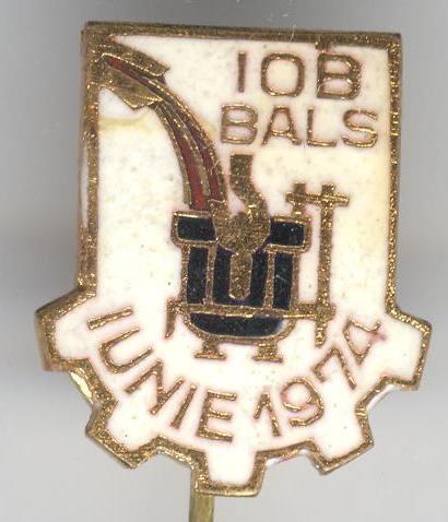 Metalurgie - IOB BALS Intreprindere de Osii si Boghiuri -  insigna Romaneasca