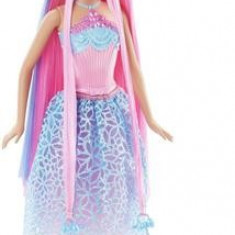 Papusa Mattel Barbie Endless Hair Kingdom Princess Doll Pink Hair Blue Dress