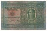 AUSTRIA  AUSTRO-UNGARIA 100  KRONEN KORONA 1912 [02] P-12 scrie UNA SUTA COROANE