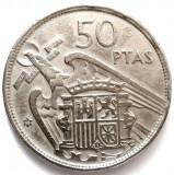 MOKAZIE , SPANIA , 50 Pesetas 1957 - Francisco Franco , DIAMETRU 30mm, Europa, Crom