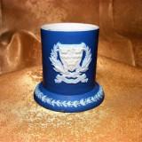Vas portelan Wedgewood Jasperware sec 19, albastru cobalt, colectie