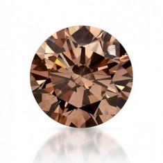 Diamant Natural Champagne - 2, 25 mm diametru - superb, pret de start 1 leu