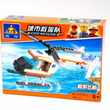 Jucarie constructiva Kazi - Elicopter de salvare 108 piese, joc compatibil lego - LEGO Technic