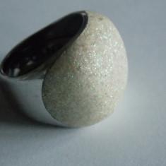 Inel de argint Pesavento(shiny rodium and white dust) - Inel argint