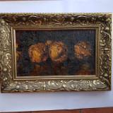 OCTAV  BANCILA - pictor ( artist ) national - GUTUI - ulei / pìnza