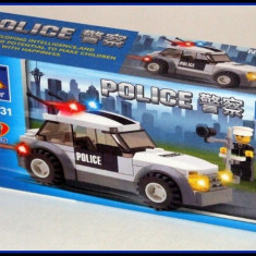 Jucarie tip lego - Masina de politie 69 piese - LEGO Police