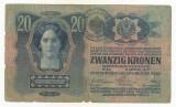 AUSTRIA  AUSTRO-UNGARIA  20  KRONEN  COROANE 1913  [012] TIMBRU SPECIAL ROMANIA