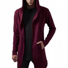 Long Hooded Open Edge Cardigan - Vesta barbati, Marime: XL, Sport