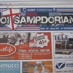 Sampdoria - Fiorentina - (21 decembrie 2008), program de meci - Program meci