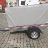 Remorca 750 kg cu prelata, dimensiuni 196x108x110 cm - Utilitare auto