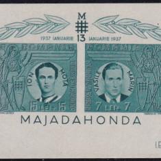 ROMANIA 1941 LP 142 IV MAJADAHONDA COLITA NEDANTELATA MNH - Timbre Romania, Nestampilat