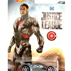 Jucarie Hot Wheels Justice Leauge Quick And Sik Cyborg (6/7) - Masinuta Hasbro