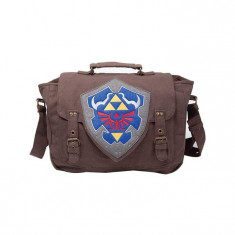 Geanta The Legend Of Zelda Brown Link Shield Messenger Bag - Geanta Barbati