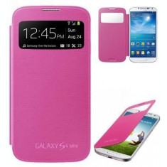 Husa Inscriptionata S View roz Samsung Galaxy S4 mini i9190