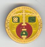 Centrul de Organizare si Cibernetica in Constructii - Insigna rara
