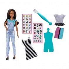 Jucarie Papusa Barbie Bronzata D.i.Y Emoji Style DYN94 Mattel