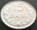 Moneda 15 Bani - ROMANIA, anul 1975 *cod 4033  Allu - UNC, Aluminiu