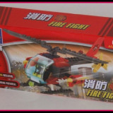 Jucarie constructiva Kazi - Elicopter de pompieri 89 piese - LEGO Technic