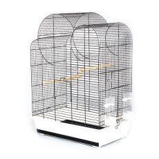 Colivie papagali ELIZA - neagră - 54 x 34 x 75 cm foto
