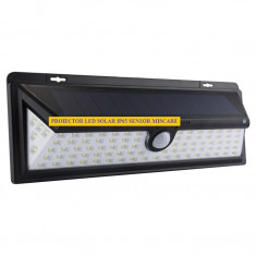 Proiector LED Solar cu senzor de miscare 90 LED SMD IP65 - Panou solar