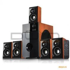 Boxe 5.1 Serioux SoundBoost HT5100C, 140W RMS, SD/USB/FM, cherry