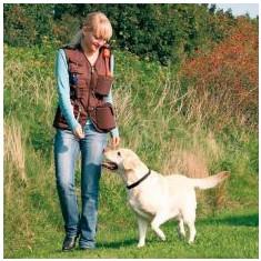 Vestă de antrenament, pentru activitatea câinelui, - maro, XL - Haina caine