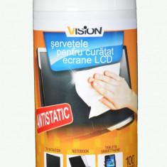 Servetele antibacteriene umede 100 tub  curata ecrane smartphone, tablete