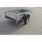 Remorca 750 kg dimensiune 204x109x27 cm - suspensie cu foaie de arc si amortizor - Utilitare auto