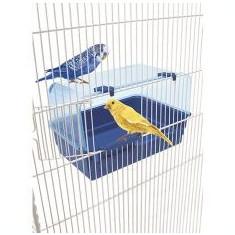 Cădiță pentru păsări RIO 10 - albastră, 26 x 18 x 17 cm