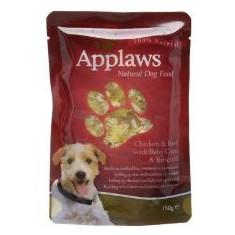 Hrană la plic APPLAWS dog, cu pui, vită, porumb şi broccoli 150g - Hrana pisici