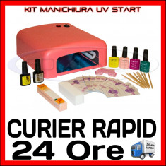 KIT UNGHII UV FALSE START - MANICHIURA OJA SEMIPERMANENTA