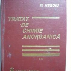 D. Negoiu - Tratat de chimie anorganica - volumul II - nemetale - Curs diverse stiinte