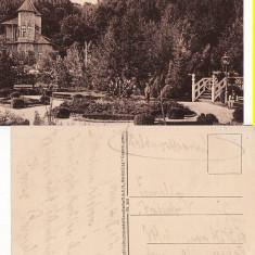 Salutari din Pitesti - Parcul Trivalea-militara WWI, WK1 - Carte Postala Muntenia 1904-1918, Circulata, Printata