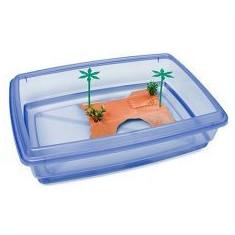 Bazin pentru broaște țestoase - albastru - 43, 5 x 34 x 11 cm - Acvariu si terariu