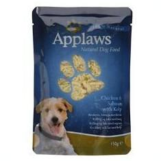 Hrană la plic APPLAWS dog, cu carne de pui, somon și alge marine 150g - Hrana pisici