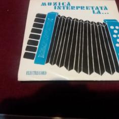 DISC VINIL VICTOR GORE MUZICA INTERPRETATA LA ACORDEON - Muzica Lautareasca