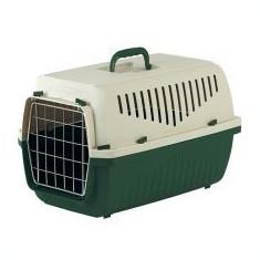 Cușcă pentru transport pisici și câini de până la 15 kg - SKIPPER 2 F - verde, 55 x 36 x 33 cm - Geanta si cusca transport animal