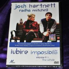 DVD FILM IUBIRE IMPOSIBILA / MOZART AND THE WHALE.  SIGILAT. SUBTITRARE  ROMANA
