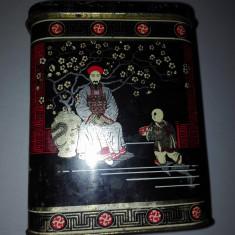 Cutie veche de ceai scotian - rara - Cutie Reclama
