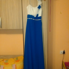 Rochii - Rochie de seara Bumbac100, Marime: Marime universala, Culoare: Albastru
