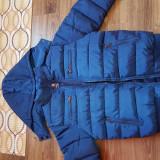 Geaca de iarna calduroasa - Geaca barbati, Marime: M, M/L, Culoare: Albastru