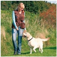 Vestă de activități pentru câini, de antrenament – maro, L - Zgarda