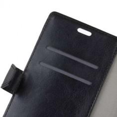 Husa Flip cu Stand Huawei Mate 10 Pro Neagra - Husa Telefon, Piele Ecologica, Cu clapeta