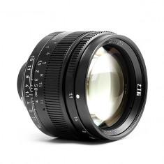 Obiectiv 7Artisans 50mm F1.1 negru pentru Leica M-mount si camere Sony E-mount - Obiectiv DSLR