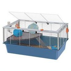 Cușcă Ferplast CRICETI 15 pentru rozătoare, cu accesorii, albastră
