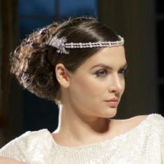 Great Gatsby Glamour Perle Headpiece Tiara - Tiare mireasa