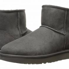 Cizme UGG la glezna- CLASSIC MINI II- Ankle boots 41 - Gheata dama Ugg, Culoare: Gri, Piele naturala