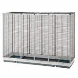 ESPACE 200 colivie pentru păsări sau rozătoare, neagră- 202 x 62 x 153 cm - Papagal