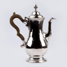 Carafa,cafetiera din argint masiv sterling 925 Londra an 1772 raritate