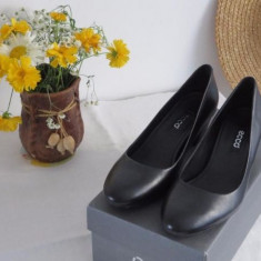 Pantofi cu toc ECCO - Pantof dama Ecco, Culoare: Negru, Marime: 37